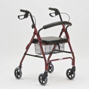 Современные модели ходунков оснащены удобным сидением и корзиной для вещей